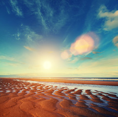 sun sand ripples