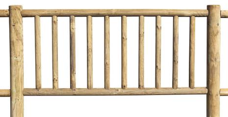 barrière de sécurité en bois massif