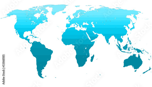 Blue worldmap