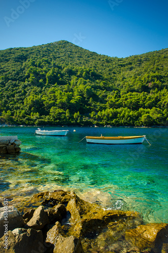 two boats in Mljet Croatia