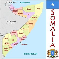 Somalia Africa  national emblem map symbol motto