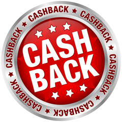 "Button ""Cashback"" red/silver"