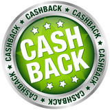 "Button ""Cashback"" green/silver"
