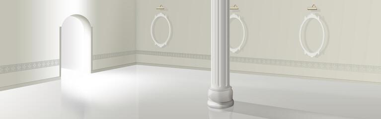 leere weiße Halle