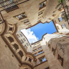 famous view in Lyon city