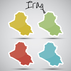 stickers in form of Iraq