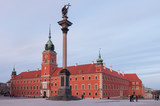 Fototapety Royal Castle in Warsaw and Sigismund's Column