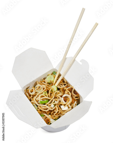 Take away food noodles