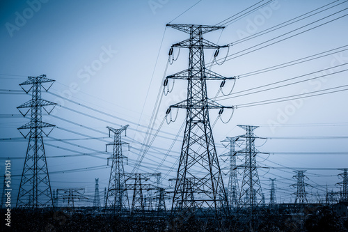 High voltage towers - 53871151
