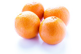 Four Naval Oranges on White