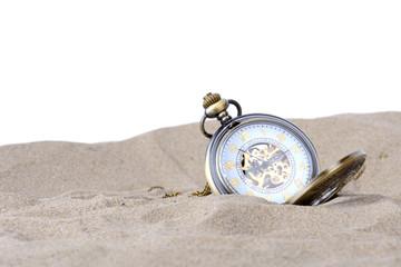clock in sand