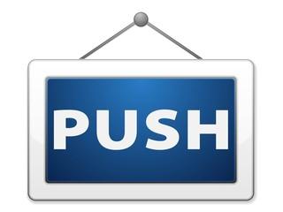 Push label