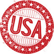Vintage United States USA Rubber Stamp