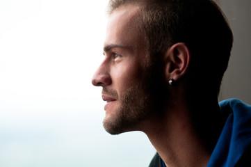 Profilbild mit hellem Hintergrund