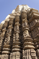 Tower-sikhara Duladeo Temple, Khajuraho, decorated with statues