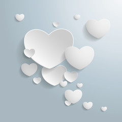 White Hearts Speech Bubble