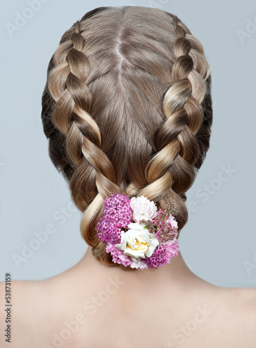Beauty wedding hairstyle. Bride - 53873159