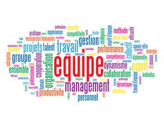 """Nuage de Tags """"EQUIPE"""" (gestion travail esprit d'équipe projets)"""