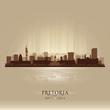Pretoria South Africa city skyline silhouette