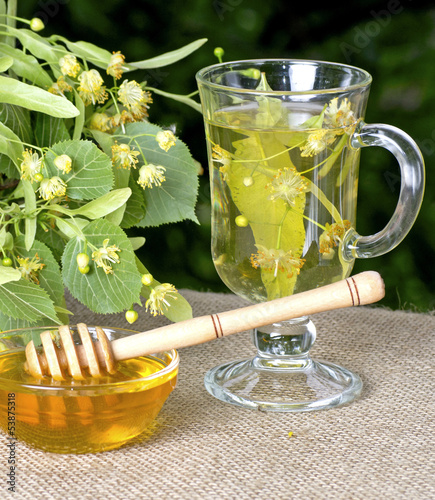 Linden honey and linden tea