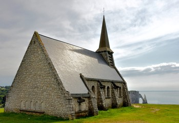Etretat chapel, France