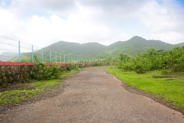 road towards green mountain