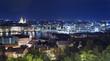 Budapest night panorama
