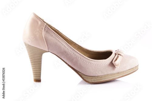 women shoes on white background.