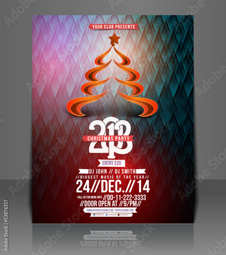 Christmas Party, Brochure, Flyer, Magazine Cover