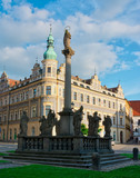 Pisek, square scupltures