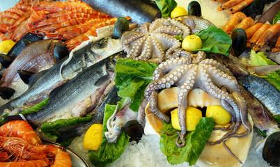 Produits de la mer frais