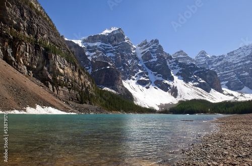 Canadian Rocky Mountains and glacial lake