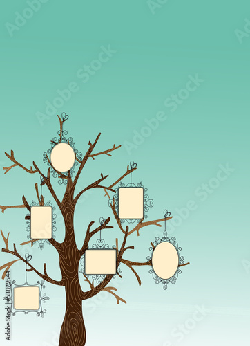 Vintage Picture frames tree
