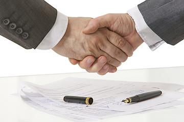 Poignée de main - Contrat finalisé