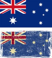 the Australian grunge flag. Vector illustration.