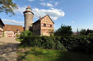 Nürnberger Burg, Wahrzeichen, Kaiserburg, Bayern, Nürnberg