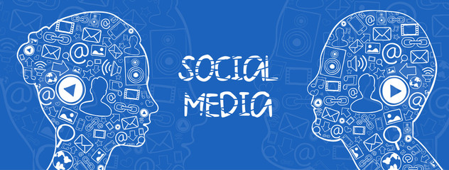 Social media vector illustration
