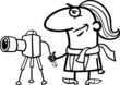 photographer cartoon coloring page