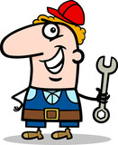 manual worker cartoon illustration