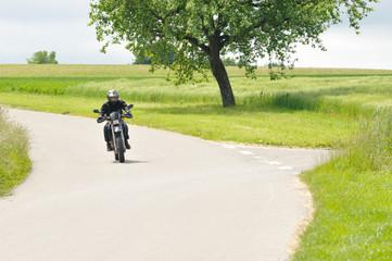Motorradfahrer im Grünen 3