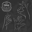 Vintage chalkboard OK hand gesture