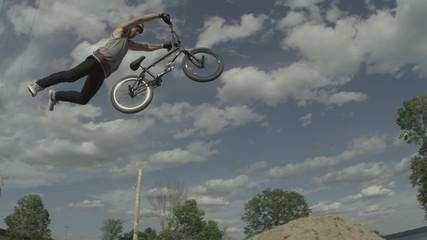 Extreme Sport BMX Biker Rider Air