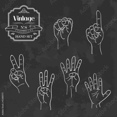 Vintage chalkboard numbers hand set
