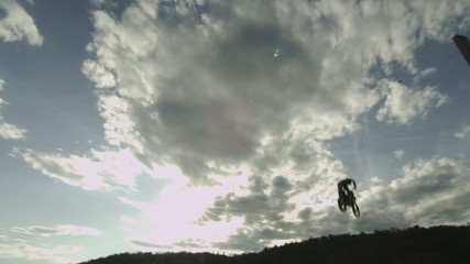 Extreme Sport FMX Motocross Silhouette