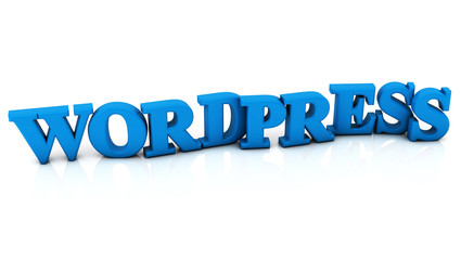 3d wordpress illustration