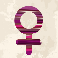 Vintage multicolor female symbol