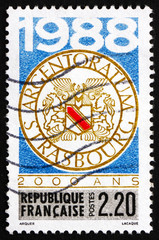 Postage stamp France 1988 Municipal Arms, Strasbourg