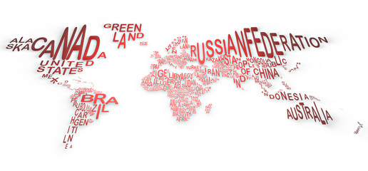 Il mondo a parole, mappa, the world in words