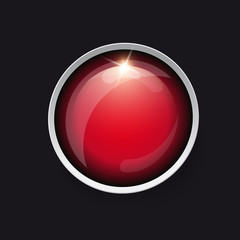 colorful circle button on white