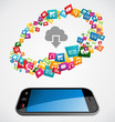 Cloud computing mobile application